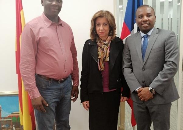 Visita del embajador de Haití