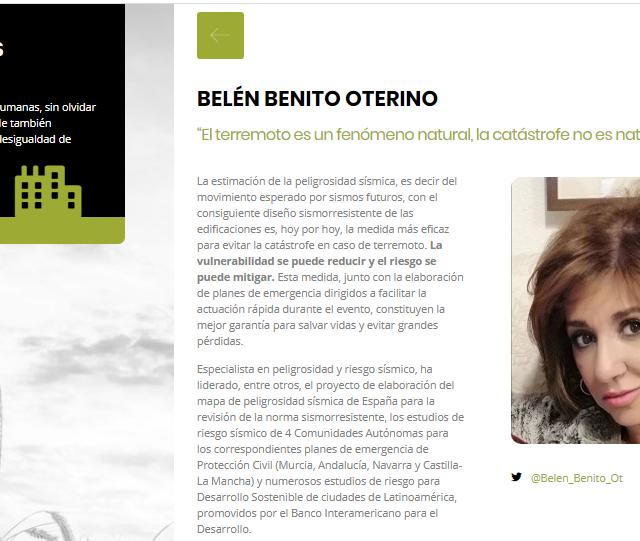 Belén Benito entre las 24 mujeres UPM seleccionadas en el Día de la Tierra 2020