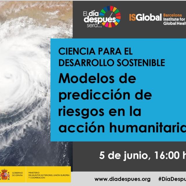 """Belén Benito participa del Webinar """"Modelos de predicción de riesgos aplicados a la acción humanitaria"""""""